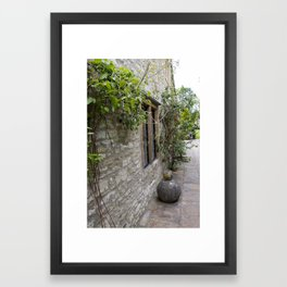 English Garden - Walk Framed Art Print