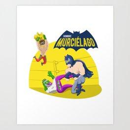 Hombre Murciélago Art Print