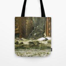 Water vs City Tote Bag