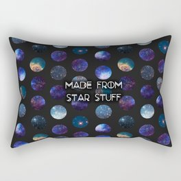 Made From Star Stuff in Black Rectangular Pillow