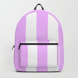 Electric lavender pink - solid color - white vertical lines pattern Backpack