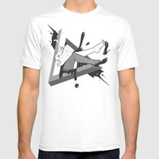 Lady Bunny MEDIUM White Mens Fitted Tee