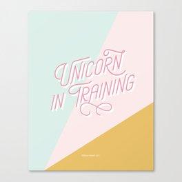 Unicorn in Training Canvas Print