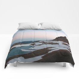 Alpine Lake Moonrise Comforters