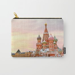 Snowy St. Basil's Cathedral Carry-All Pouch
