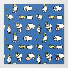 Weird sheep Canvas Print