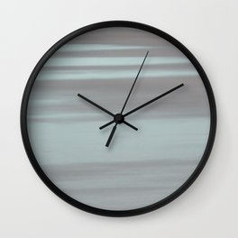 Blue and Beige Beach No. 1 Wall Clock
