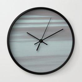Blue and Beige Beach No. 1 Wall Clock