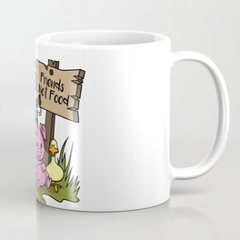 Friends Not Food Animal Rights Pig Cow present Coffee Mug