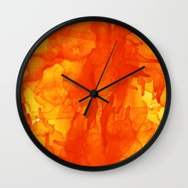 Microcosmos Rojo Wall Clock