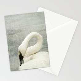 Museum Swan - Graceful Wildlife Still Life Stationery Cards