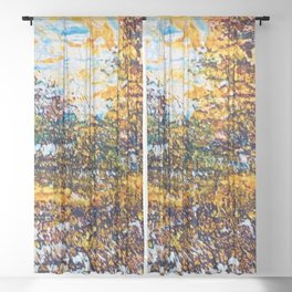 autumn splendour Sheer Curtain