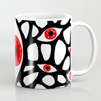 evil eye Mugs featuring Evil Eye by Denise R.