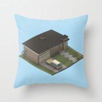 mid century modern Throw Pillows featuring Mid Century Modern Home by Michiel van den Berg