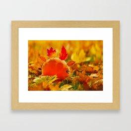Autumn dino Framed Art Print