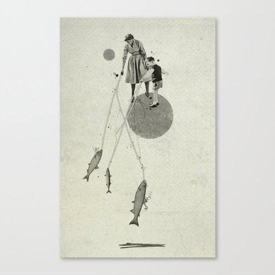 April   Collage Canvas Print