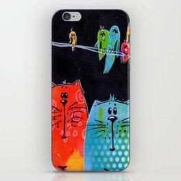 Cats & Birds iPhone Skin