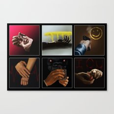 Sherlock - Hands Canvas Print