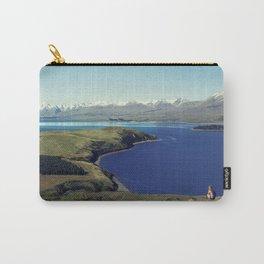 She felt tiny in Lake Tekapo Carry-All Pouch