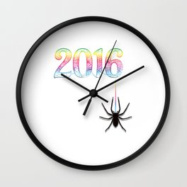 Spider 2016 Wall Clock