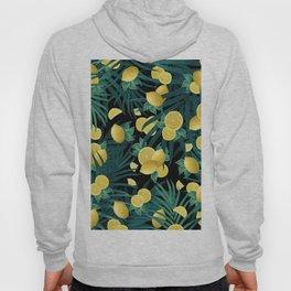 Summer Lemon Twist Jungle Night #1 #tropical #decor #art #society6 Hoody