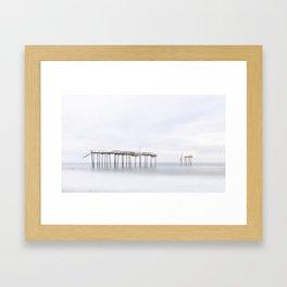 Frisco Pier (color) Framed Art Print