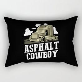 Asphalt Cowboy   Trucker Rectangular Pillow