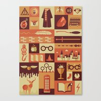 risa rodil Canvas Prints featuring Accio Items by Risa Rodil
