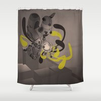 fullmetal alchemist Shower Curtains featuring The Alchemist 014 by Alex.Raveland...robot.design.digital.art