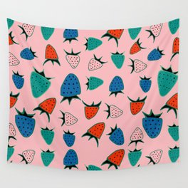 strawberry pink Wall Tapestry
