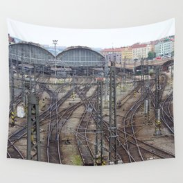 Prague Train Station Wall Tapestry