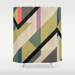 Modernist Dazzle Ship Camouflage Design Shower Curtain