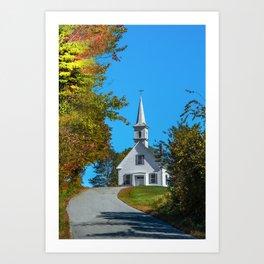 Chapel on the hill Art Print