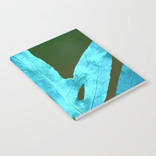 Autumn Leaves Blue and Cold Fall to the Ground Notebook