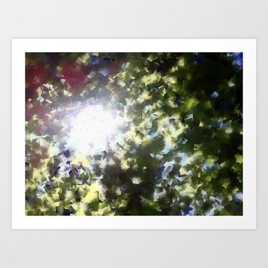 Sun Study 1 Trees Art Print