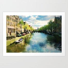 Amsterdam Waterways Art Print