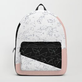 Patchwork pink and marble Backpack
