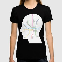 Subway map of mind and soul T-shirt