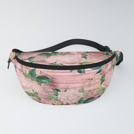Blush Floral on Wood 07 Fanny Pack