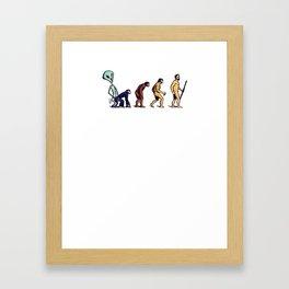 Alien Monkey Evolution Framed Art Print