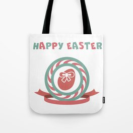 Happy Easter hand sketched logotype Tote Bag