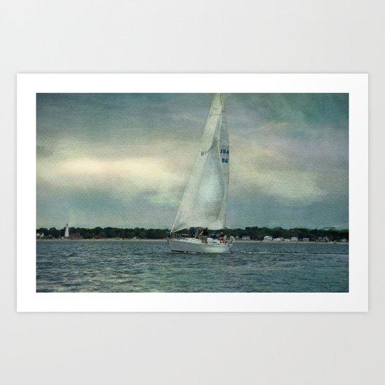 Twilight Sail Art Print