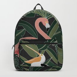 Flamingo and Pelican Backpack