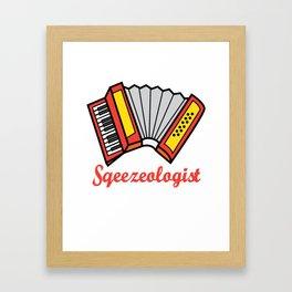 Accordion Accordionist T Shirt Gift Squeezeologist Framed Art Print