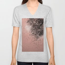 Cali Summer Vibes Lady Glitter #9 #shiny #decor #art #society6 Unisex V-Neck