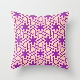 Abstract pink-purple snow pattern Throw Pillow