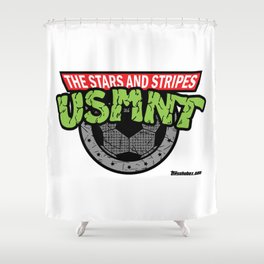 USMNT -- A FEARSOME SOCCER TEAM Shower Curtain