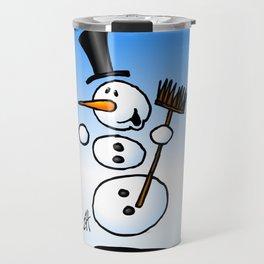 Dancing snowman Travel Mug