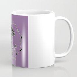 Floral Wreathed Mushroom Design Coffee Mug