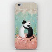 hug iPhone & iPod Skins featuring hug by bonnyart